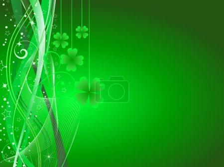 Illustration pour Fond abstrait avec St. Patricks thème de la journée - image libre de droit