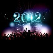Novoroční večírek dav