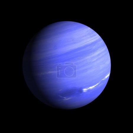 Photo pour Un rendu de la neptune Gas Planet sur un fond noir propre . - image libre de droit