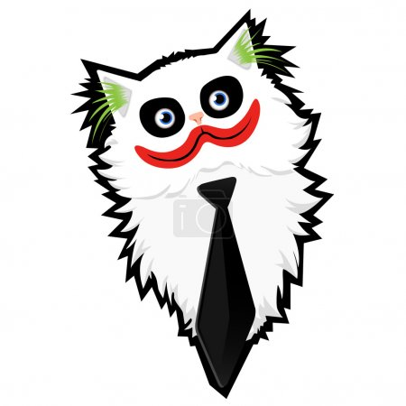 Illustration for Funny caricature cartoon Cat-Joker - Royalty Free Image