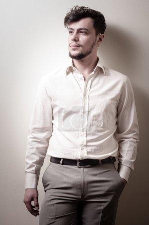 stylish modern guy with white shirt