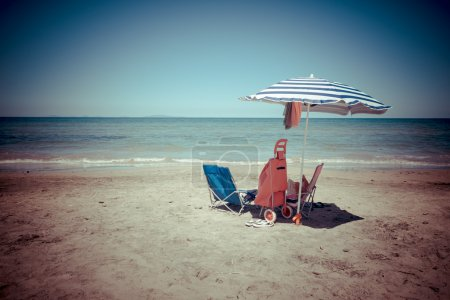 Photo for Vintage sea landscape in summertime - Royalty Free Image