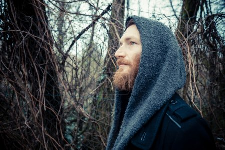 Bearded hipster man