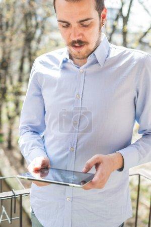Multitasking multimedia man
