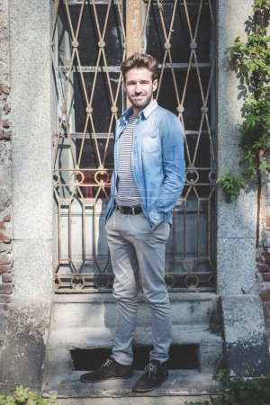 Photo for Young handsome fashion model man outdoors - Royalty Free Image
