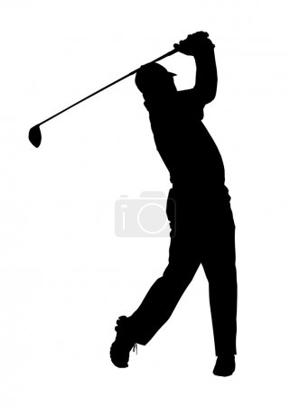 Golf Sport Silhouette - Golfer finished Tee-shot