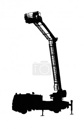 Detailed Fire Truck Silhouette