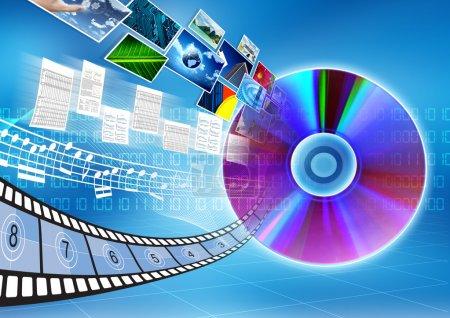 CD / DVD data storage Concept