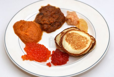 Different types of caviar...