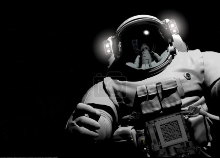 Photo for Astronaut on a black background. - Royalty Free Image
