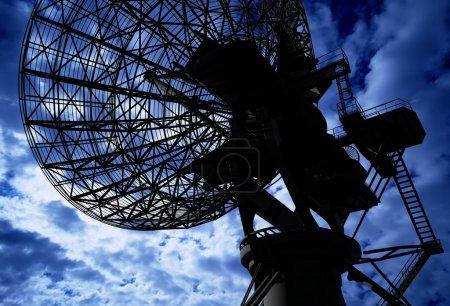 Radar on a background of the sky...