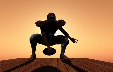 Photo pour Silhouette du sportif sur fond d'un coucher de soleil. - image libre de droit
