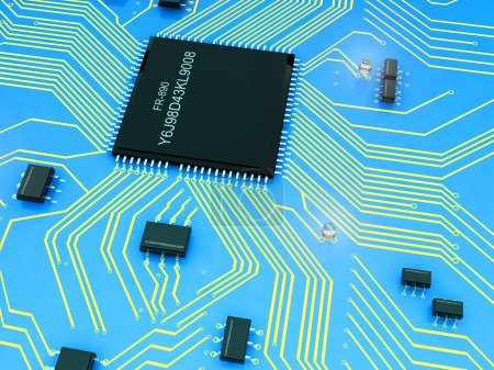 Photo for Electrical Power chips on the board. - Royalty Free Image