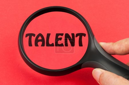 Photo for Looking for talent concept with a magnifier on hand - Royalty Free Image