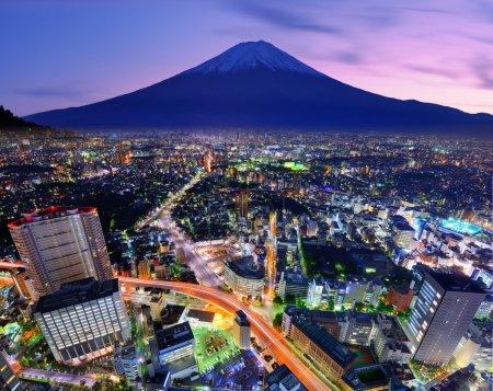 Tokyo and Fuji