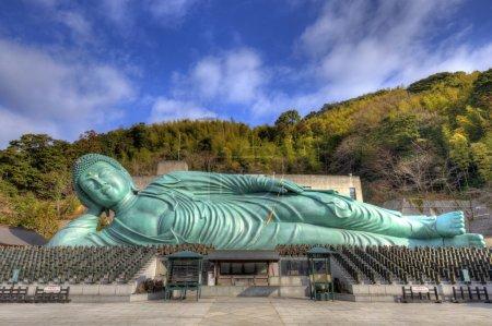 The Reclining Buddha of Nanzoin Temple in Fukuoka,...