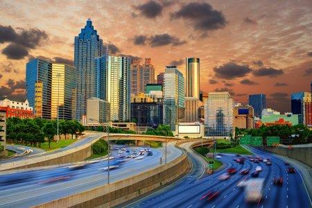 Photo pour Downtowntown atlanta, skyline de Géorgie. - image libre de droit