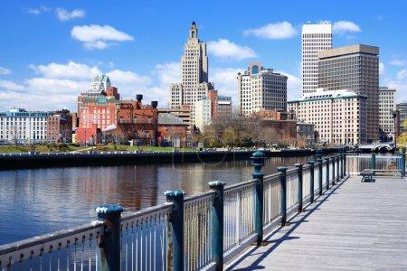 Photo pour Providence, Rhode Island a été l'une des premières villes établies aux États-Unis . - image libre de droit