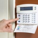Key pad on a house alarm...