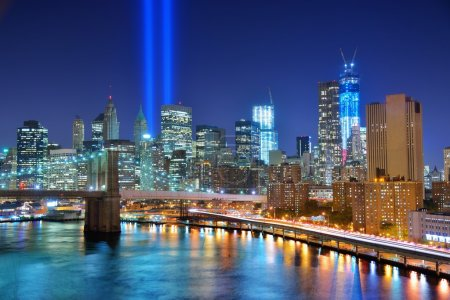 Photo for Tribute in Light serves as a memorial to the victims of the September 11, 2001 attacks in New York City. - Royalty Free Image