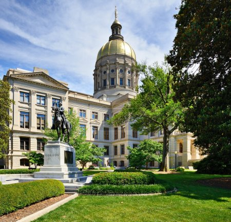 Photo pour Georgia State Capitol Building à Atlanta, Géorgie, États-Unis . - image libre de droit