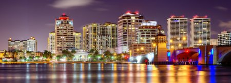 Photo for Skyline of West Palm Beach, Florida, USA. - Royalty Free Image