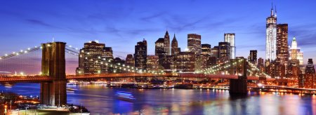 Photo for Lower Manhattan skyline in New York City. - Royalty Free Image