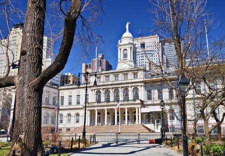 Photo pour Hôtel de Ville de New York, États-Unis . - image libre de droit