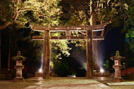 Stone Tori Gate in Nikko, Japan.