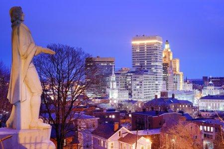 Photo pour Providence centre-ville, île de rhode, Etats-Unis - image libre de droit