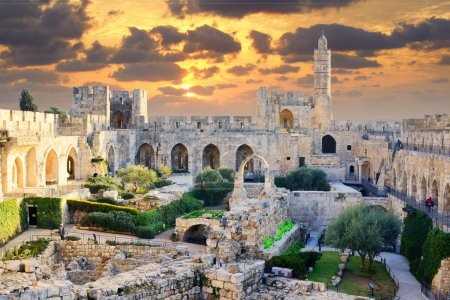 Photo for Tower of David in Jerusalem, Israel. - Royalty Free Image