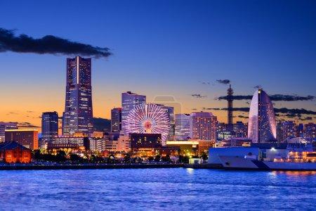 Photo pour Yokohama, Japon Paysage urbain - image libre de droit
