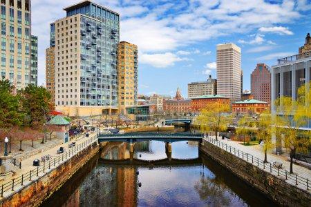 Photo pour Providence, Rhode Island Paysage urbain au Waterplace Park . - image libre de droit