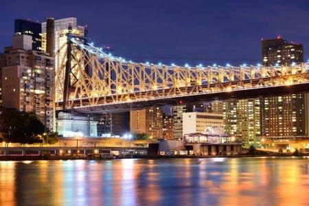 Photo pour Pont de Queensboro bridge à new york city. - image libre de droit