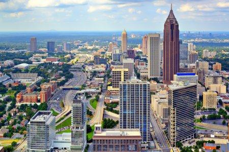 Photo pour Downtown Atlanta, Géorgie, États-Unis skyline . - image libre de droit