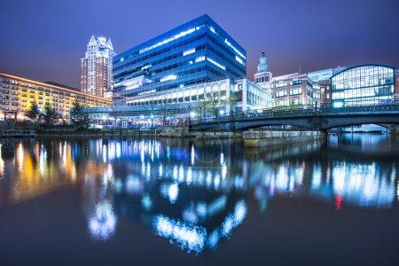 Photo pour Providence, Rhode Island bâtiments à Waterplace Park . - image libre de droit