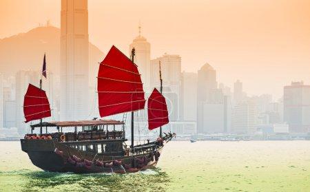 Junk Ship in Hong Kong