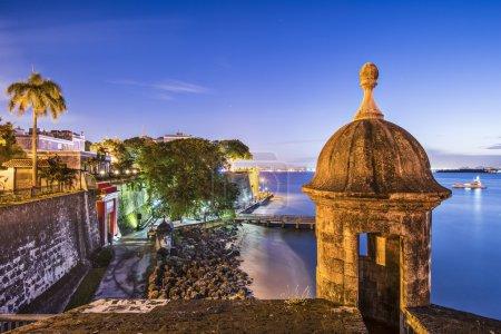 Photo pour Côte de San Juan, Porto Rico au Paseo de la Princesa . - image libre de droit