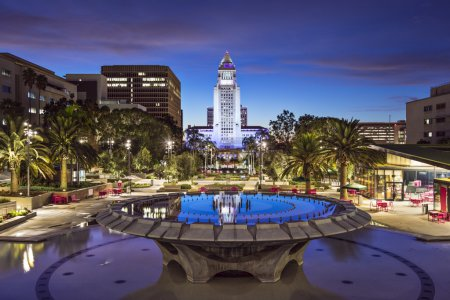Downtown Los Angeles at City Hall