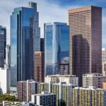 Los Angeles, California, USA downtown cityscape....
