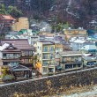 The small town of Shibu Onsen in Nagano Prefecture...