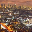 Los Angeles, California, USA downtown skyline at n...