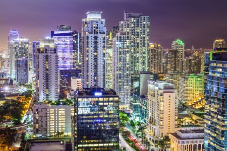 Photo for Miami, Florida, USA downtown cityscape. - Royalty Free Image
