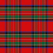 Vector seamless pattern Scottish tartan Royal Stewart