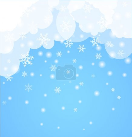 Abstract Background. Winter theme