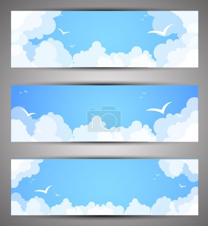 Illustration for Set of banners for a site. good weather - Royalty Free Image
