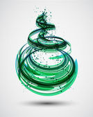 Abstract Green Spiral Background Vector