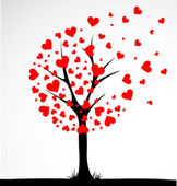 Abstract tree made with hearts Vector