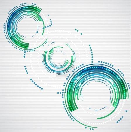 Illustration pour Cercles abstraits de technologie de couleur. Vecteur - image libre de droit