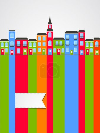 The coloured abstract houses